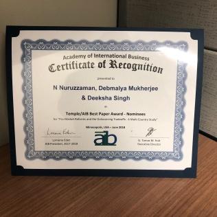 AIB/Temple Best Paper Nomination